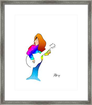 Oh Just Too Too Cool Framed Print