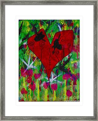 Oh My Green Heart Framed Print by Donna Daugherty