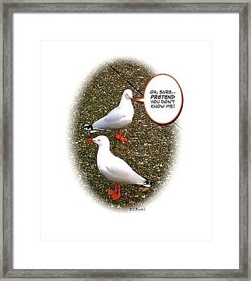 Oh Sure Framed Print by Brian D Meredith