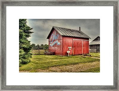Ohio Barn Framed Print by Mary Timman