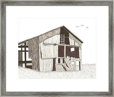 Ohio Barn Framed Print by Pat Price