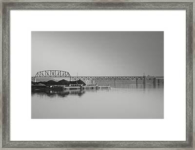 Ohio River Coal Barge I Framed Print by Steven Ainsworth