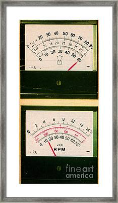 Ohmmeter And Mercury Meter Framed Print