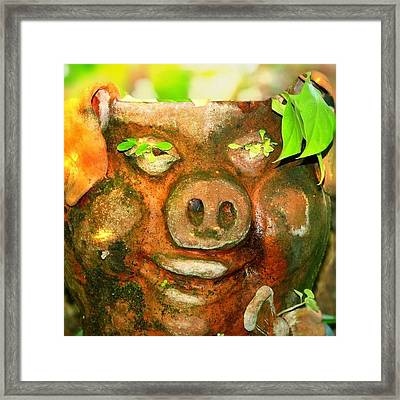 Oi, Wishing You Fabulous Day, Smile Framed Print