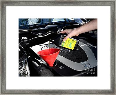 Oil Change Framed Print by Photo Researchers
