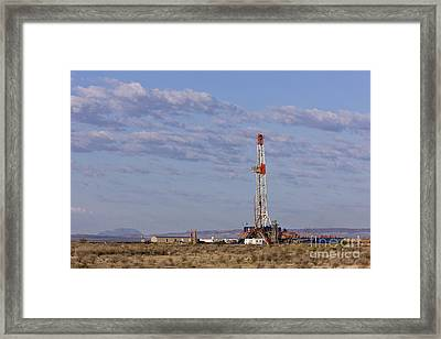 Oil Exploration Drill Framed Print by Jeremy Woodhouse