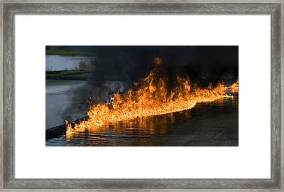 Oil Fire Framed Print by Paul Rapson