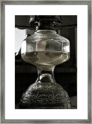 Oil Lamp I Framed Print by Steven Ainsworth