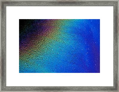 Oil On Pavement Framed Print by Todd Breitling