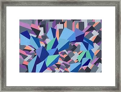Blue Barge Through The Purple City Framed Print