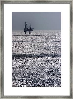 Oil Platform Framed Print by Arno Massee