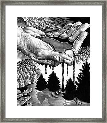 Oil Pollution Framed Print by Bill Sanderson