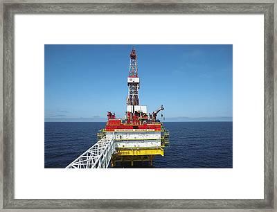 Oil Production Rig, Baltic Sea Framed Print by Ria Novosti