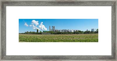 Framed Print featuring the photograph Oil Refinery by Hans Engbers