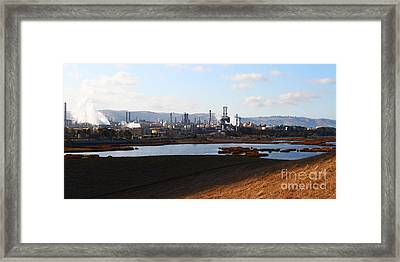 Oil Refinery Industrial Plant In Martinez California . 7d10398 Framed Print by Wingsdomain Art and Photography