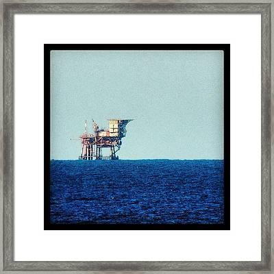 Oil Rig Framed Print