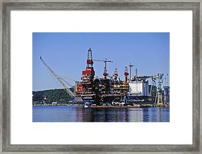 Oil Rig Framed Print by Rod Jones