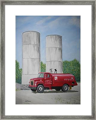 Framed Print featuring the painting Oil Truck by Stacy C Bottoms