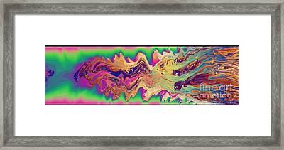 Oily Surface Of A Soap Bubble Framed Print by Ted Kinsman