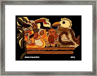 Oiseaux D'eau En Hiver Framed Print