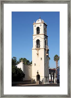 Framed Print featuring the photograph Ojai Post Office Tower by Henrik Lehnerer