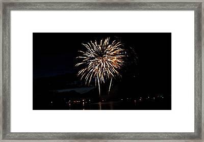 Okanagan Starburst Framed Print by Don Mann