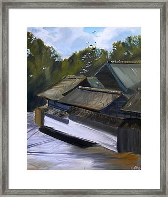 Okazaki Castle Framed Print by Janice Harvey