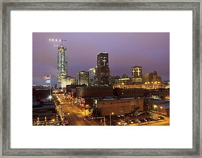 Okc Evening II Framed Print by Ricky Barnard