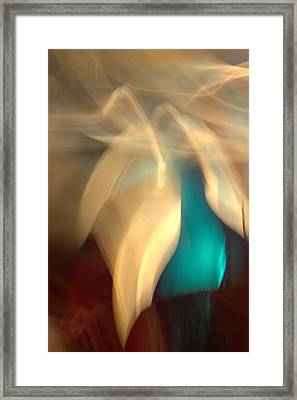 Framed Print featuring the mixed media O'keefe II by Terence Morrissey