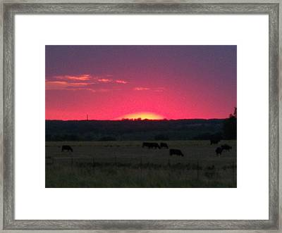 Okie Sunset Framed Print by Adam Cornelison