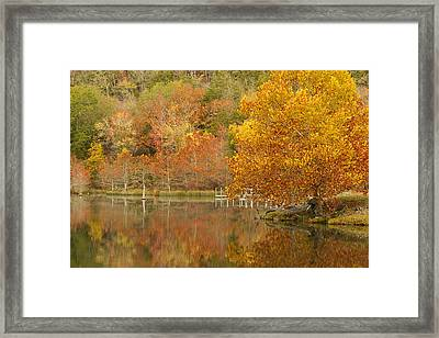 Oklahoma Autumn Framed Print