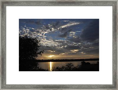 Oklahoma Lake Framed Print