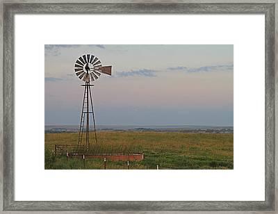 Oklahoma Windmill Framed Print