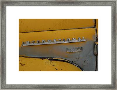 Ol Yeller Framed Print by Ken Riddle