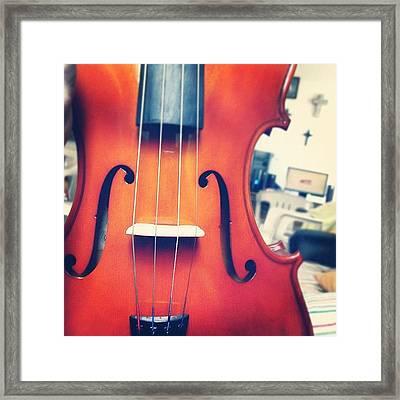 #olazaran #andreego #music #viola Framed Print