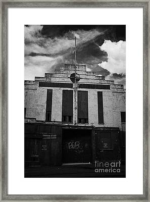 Old Abandonded Ballymoney Dance Hall County Antrim Northern Ireland Framed Print