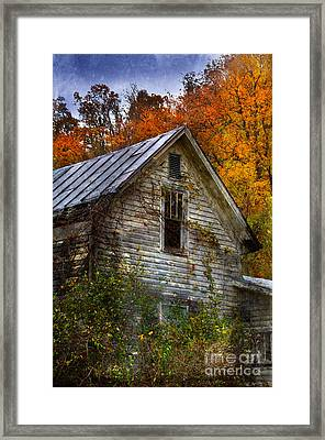 Old Abandoned House In Fall Framed Print by Jill Battaglia