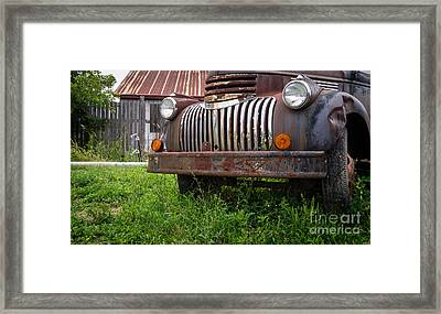 Old Abandoned Pickup Truck Framed Print by Edward Fielding