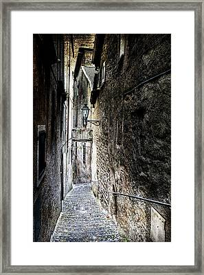old alley in Italy Framed Print