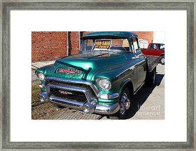 Old American Gmc Truck . 7d10665 Framed Print by Wingsdomain Art and Photography