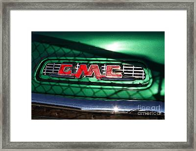 Old American Gmc Truck . 7d10666 Framed Print by Wingsdomain Art and Photography