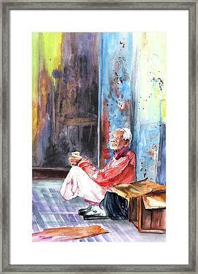 Old And Lonely In Morocco 01 Framed Print by Miki De Goodaboom