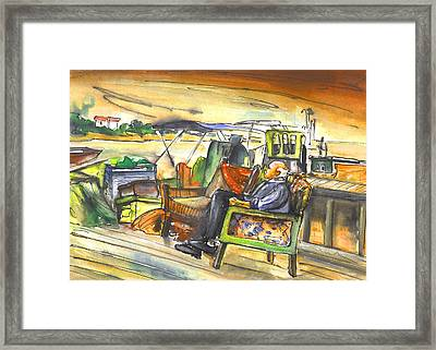 Old And Lonely In Potamos Liopetri Framed Print by Miki De Goodaboom