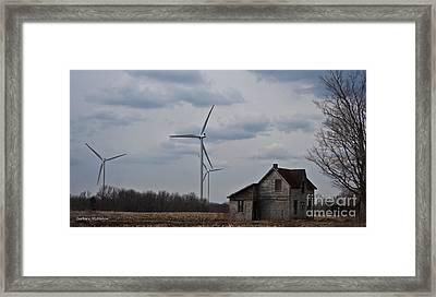 Framed Print featuring the photograph Old And New by Barbara McMahon