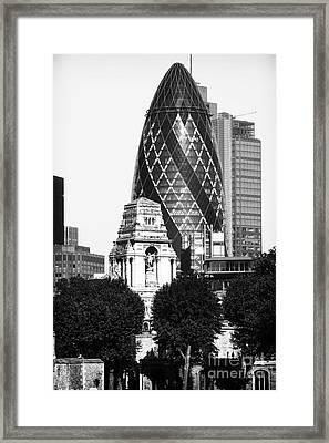 Old And New In London Framed Print by John Rizzuto