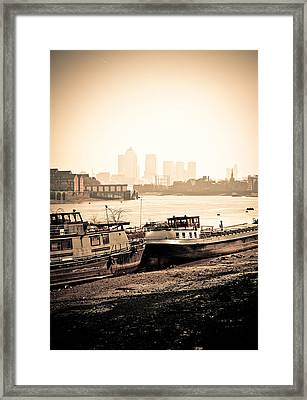 Framed Print featuring the photograph Old And New London Town by Lenny Carter
