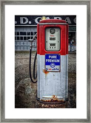 Old And Rustu Pump 2  Framed Print