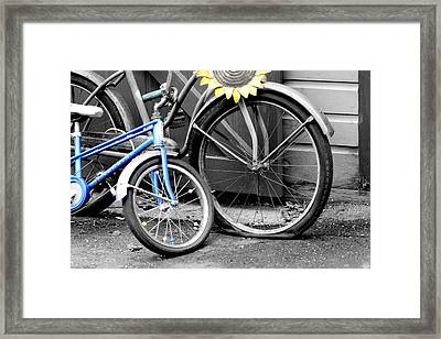 Old And Young Framed Print by Greg Fortier