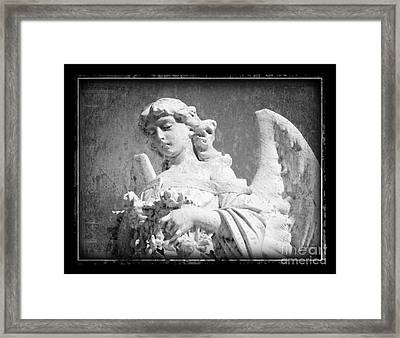 Framed Print featuring the photograph Old Angel by Jeanne  Woods