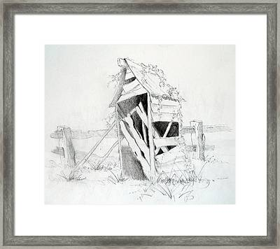 Old Aussie Outhouse Framed Print by Carol McLagan